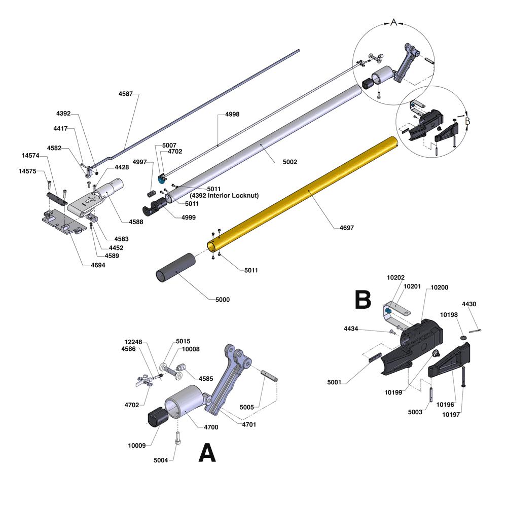 TapeTech 88TTE Xtender Handle Parts Diagram